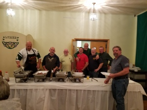 Waterbury Hibernians serving our veterans at our annual pancake breakfast